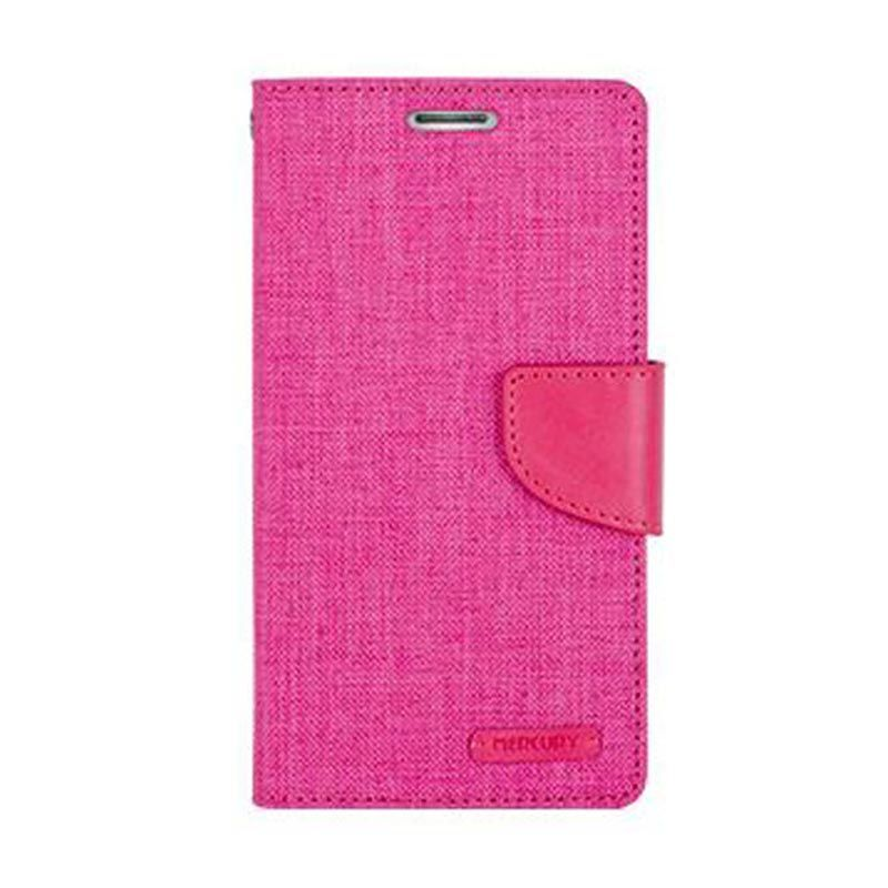 Mercury Goospery Canvas Diary Pink Casing for Samsung Galaxy Grand Prime
