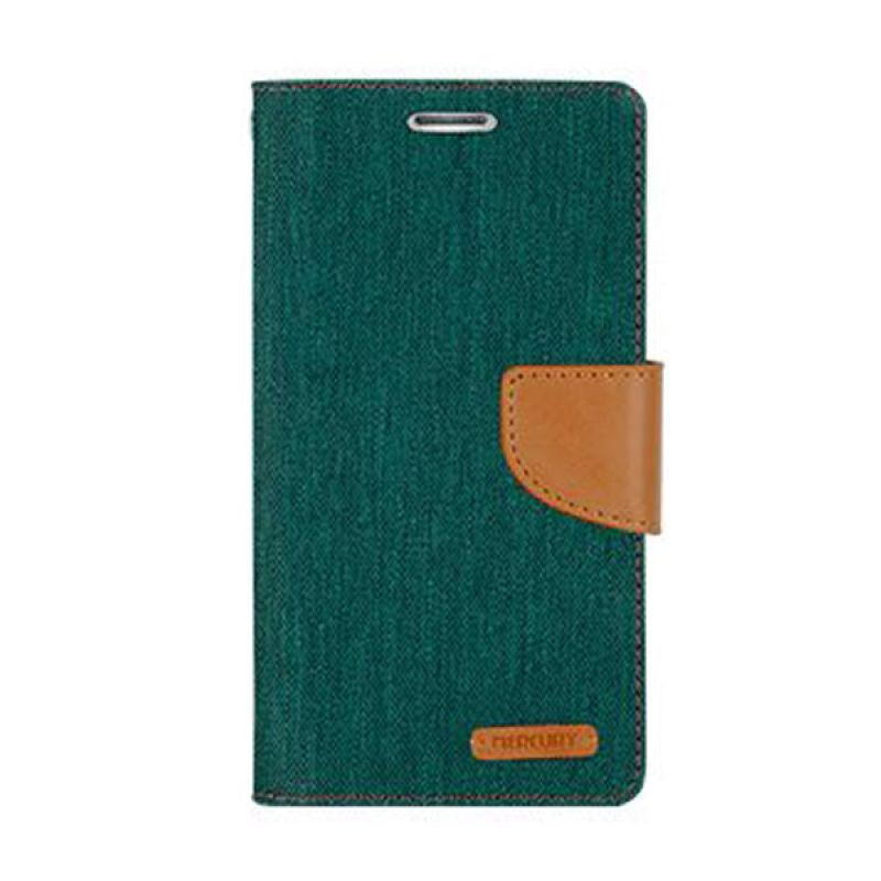 Mercury Goospery Canvas Diary Green Casing for Samsung Galaxy J1
