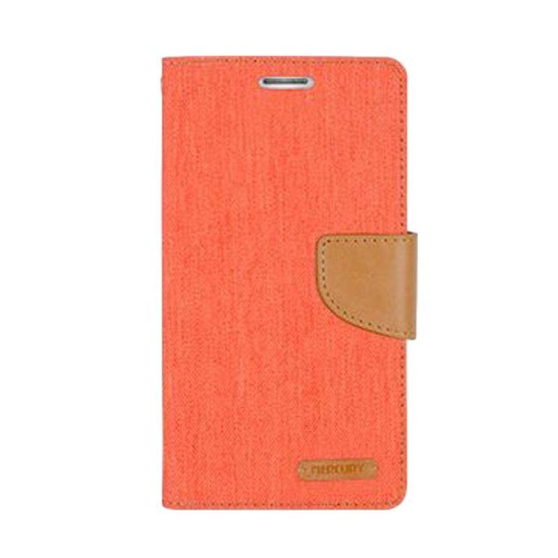Mercury Goospery Canvas Diary Orange Casing for Asus Zenfone 5
