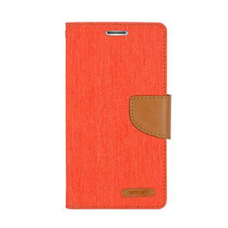 Mercury Goospery Canvas Diary Orange Casing for Samsung Galaxy J1