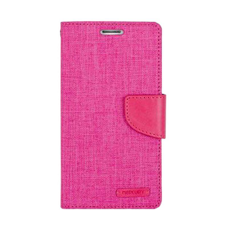 Mercury Goospery Canvas Diary Pink Casing for Samsung Galaxy A5