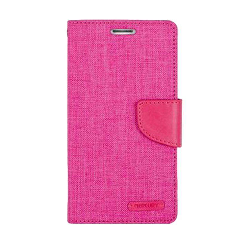 Mercury Goospery Canvas Diary Pink Casing for Samsung Galaxy J1