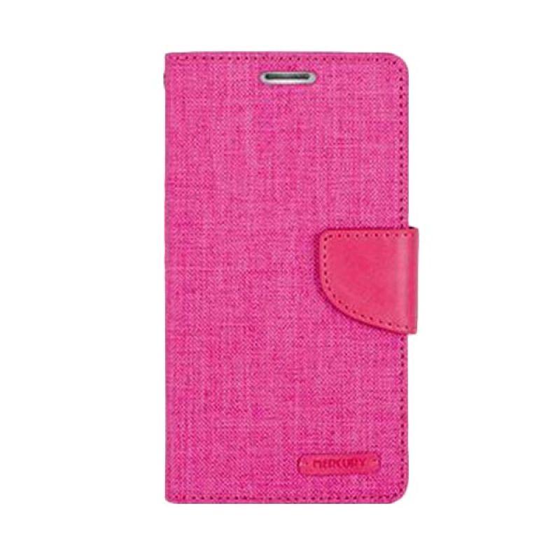 Mercury Goospery Canvas Diary Pink Casing for Xiaomi Redmi 2