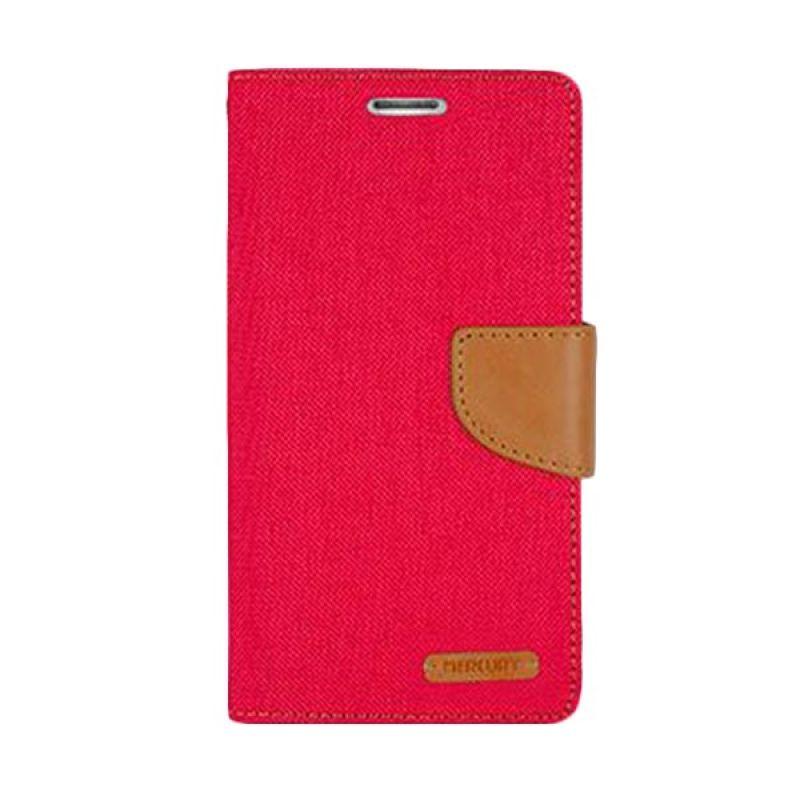 Mercury Goospery Canvas Diary Red Casing for Xiaomi Redmi 2