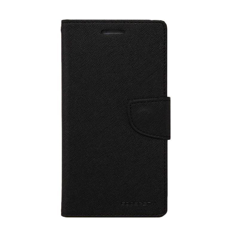 Mercury Goospery Fancy Diary Black Casing for HTC New One