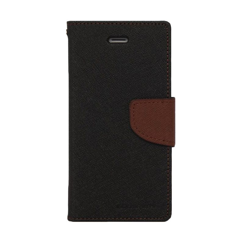Mercury Goospery Fancy Diary Black Brown Casing for Samsung Galaxy A7