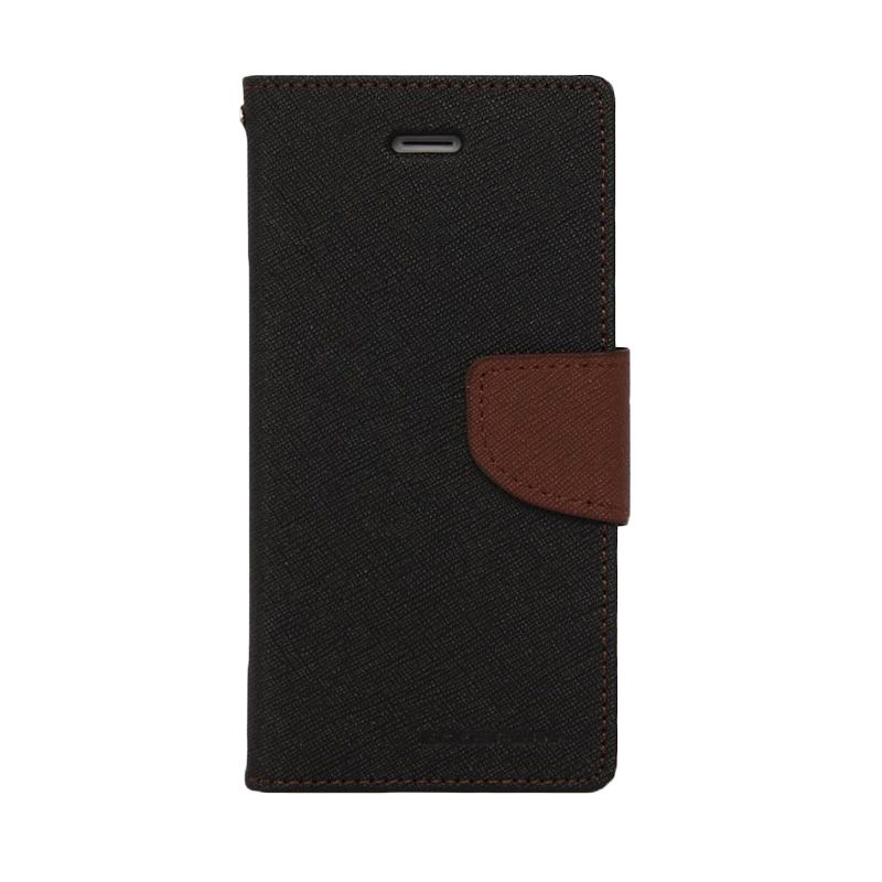 Mercury Goospery Fancy Diary Black Brown Casing for Samsung Galaxy Note Edge