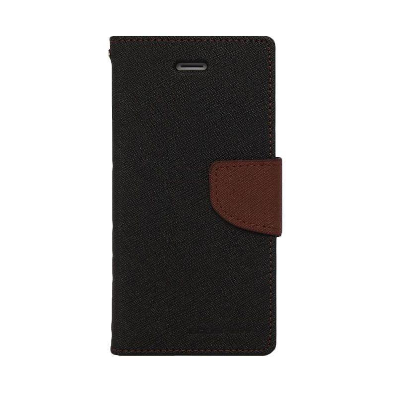 Mercury Goospery Fancy Diary Black Brown Casing for Xperia Z1
