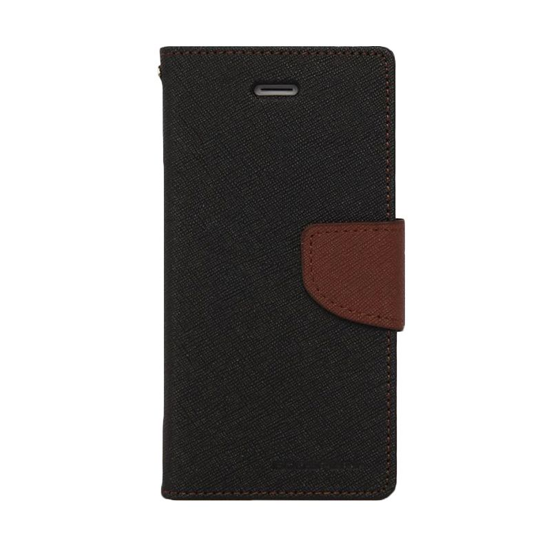 Mercury Goospery Fancy Diary Black Brown Flip Cover Casing for Oppo R5