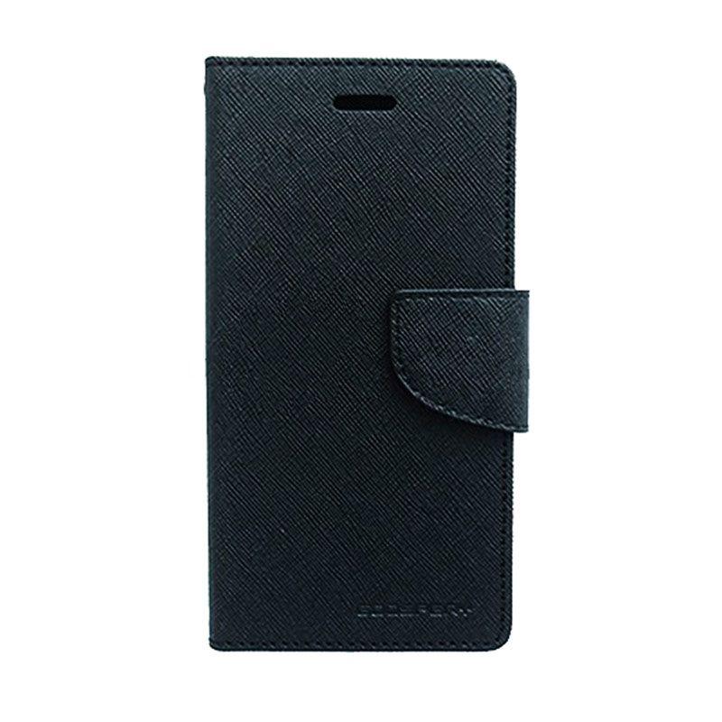 Mercury Goospery Fancy Diary Black Casing for Oppo Neo K