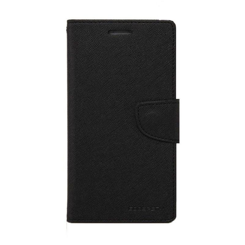 Mercury Goospery Fancy Diary Black Flip Cover Casing for LG G3