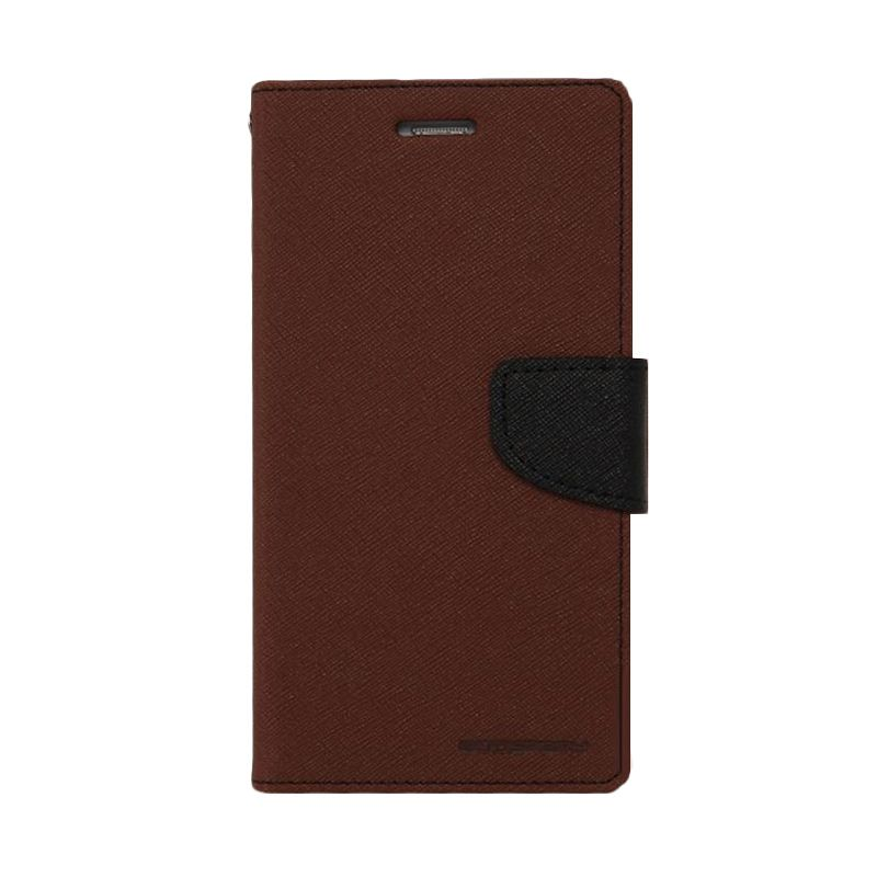 Mercury Goospery Fancy Diary Black Brown Casing for Xperia Z3 Compact
