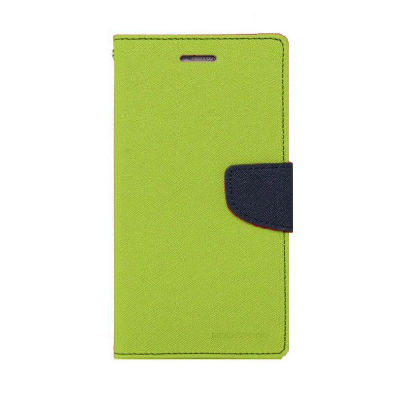 Mercury Goospery Fancy Diary Lime Navy Casing for Galaxy S4 mini