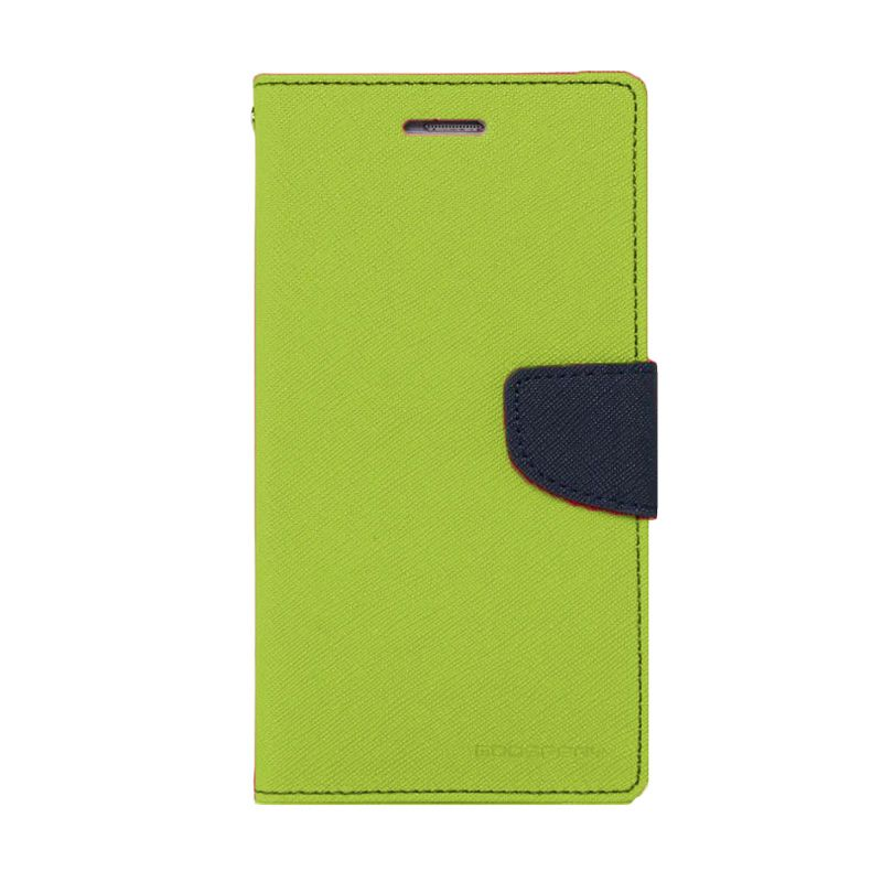 Mercury Goospery Fancy Diary Lime Navy Casing for Iphone 4 or 4S