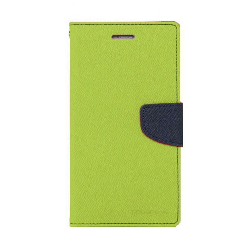 Mercury Goospery Fancy Diary Lime Navy Casing for Samsung Galaxy Note 3