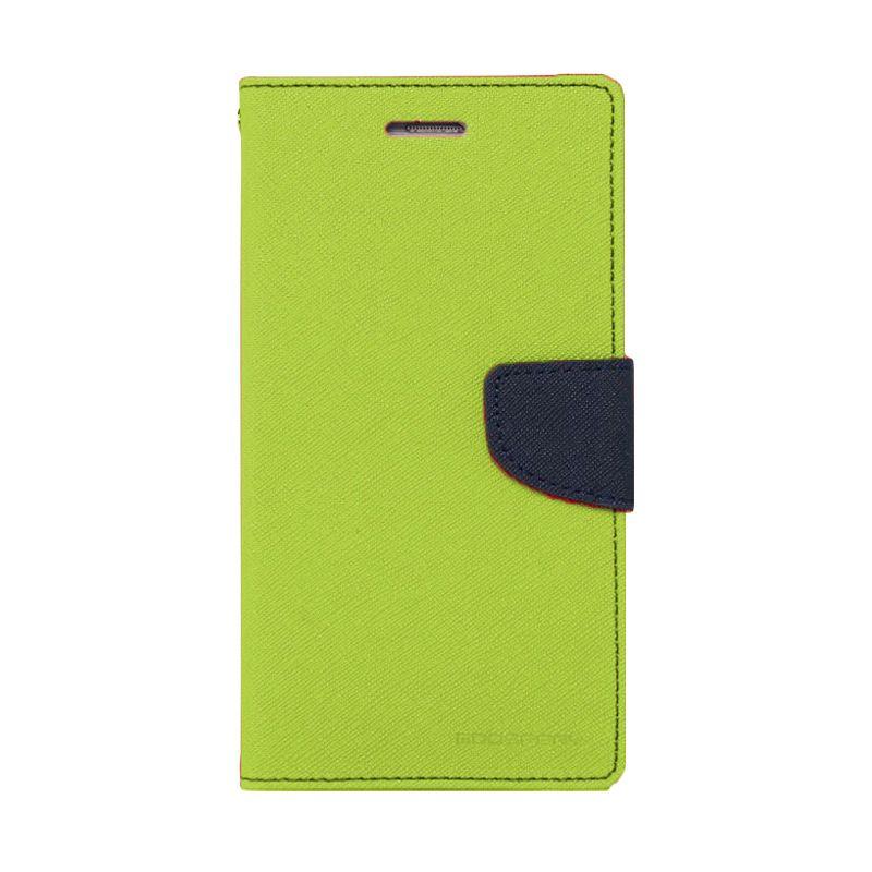 Mercury Goospery Fancy Diary Lime Navy Casing for Samsung Galaxy S6 Edge