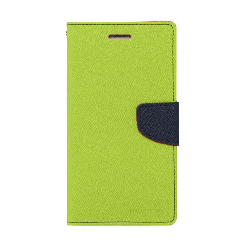 Mercury Goospery Fancy Diary Lime Navy Casing for Xperia Z2
