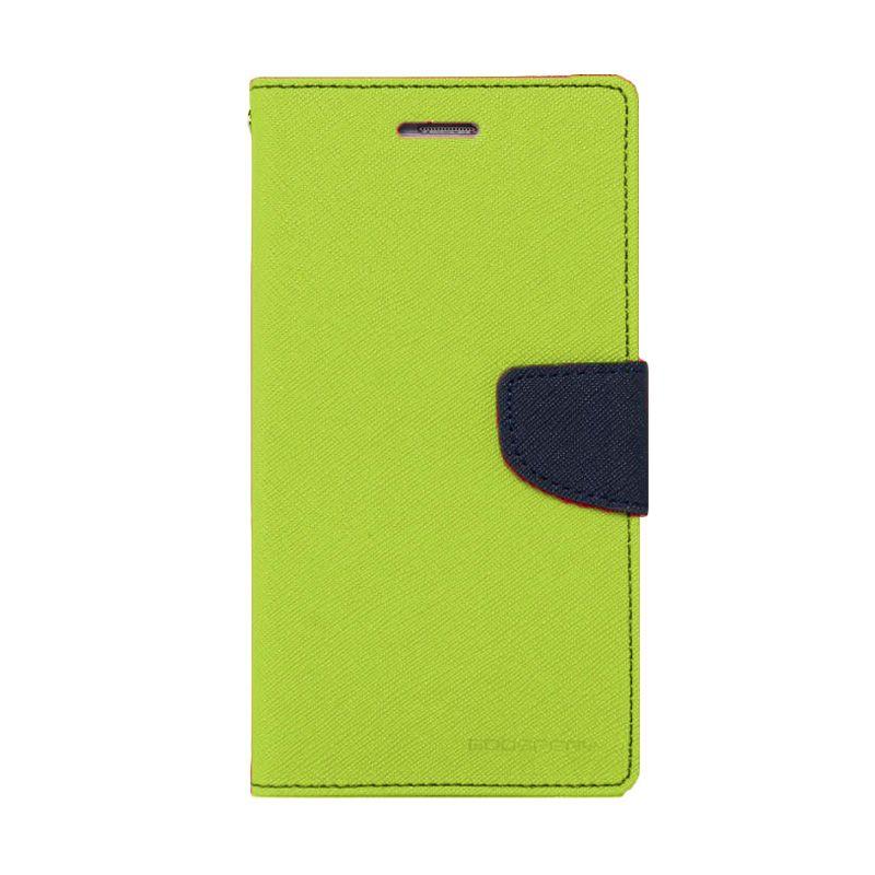Mercury Goospery Fancy Diary Lime Navy Flip Cover Casing for Oppo R5