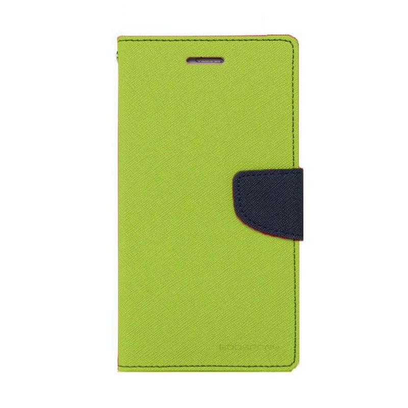 Mercury Goospery Fancy Diary Lime Navy Flip Cover Casing for Xiaomi Redmi 2