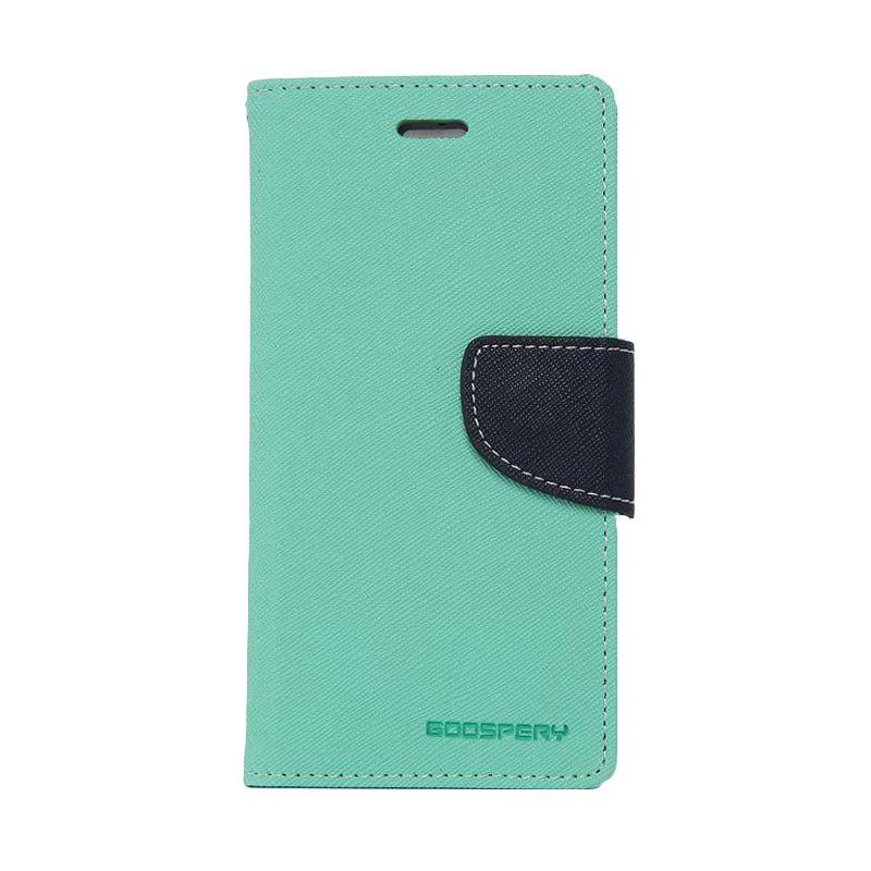 Mercury Goospery Fancy Diary Mint Navy Casing for Motorola Moto G