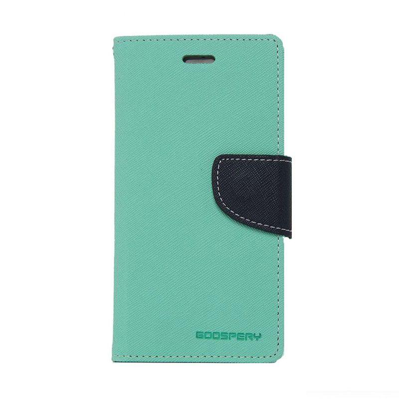 Mercury Goospery Fancy Diary Mint Navy Casing for Oppo Find 5 Mini R827