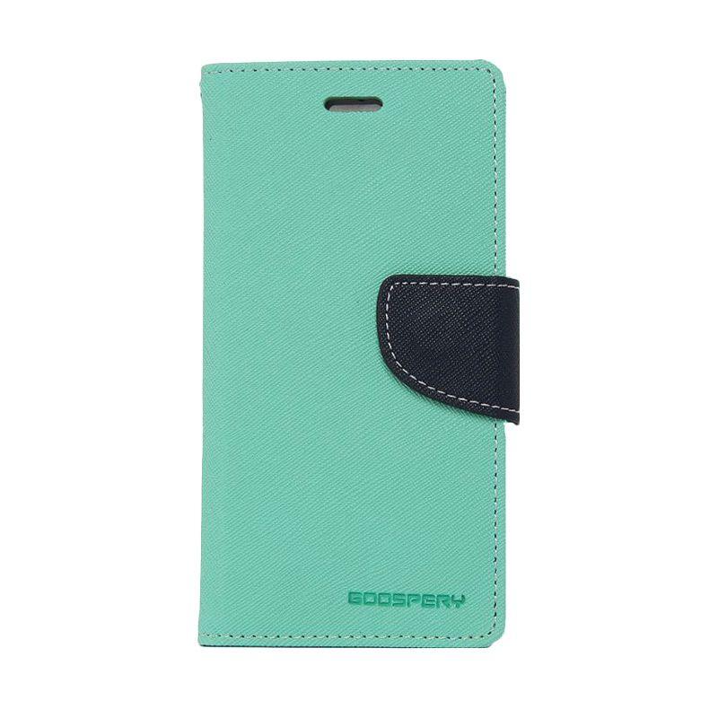 Mercury Goospery Fancy Diary Mint Navy Casing for Samsung Galaxy S6