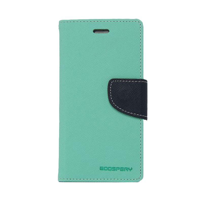 Mercury Goospery Fancy Diary Mint Navy Casing for Xperia Z2