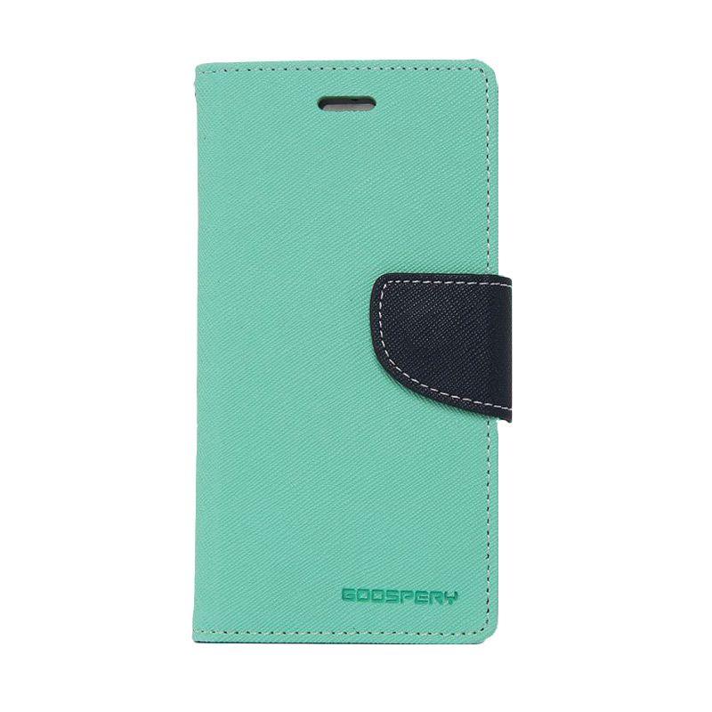 Mercury Goospery Fancy Diary Mint Navy Casing for Zenfone 5