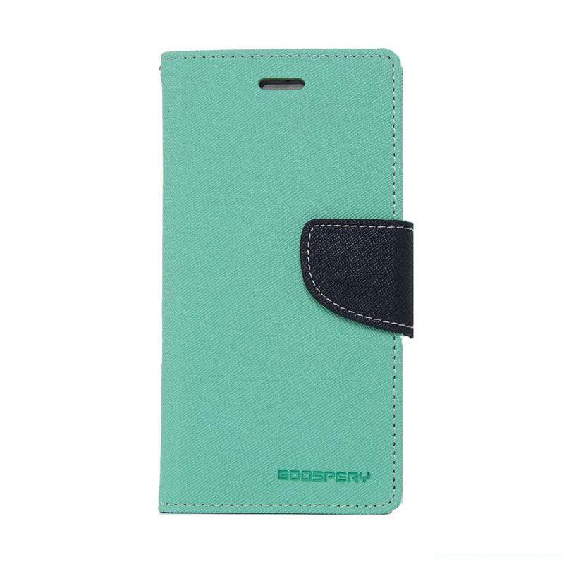 Mercury Goospery Fancy Diary Mint Navy Flip Cover Casing for Galaxy A5
