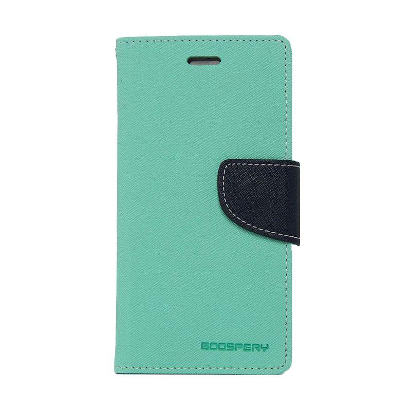 Mercury Goospery Fancy Diary Mint Navy Flip Cover Casing for Oppo R5