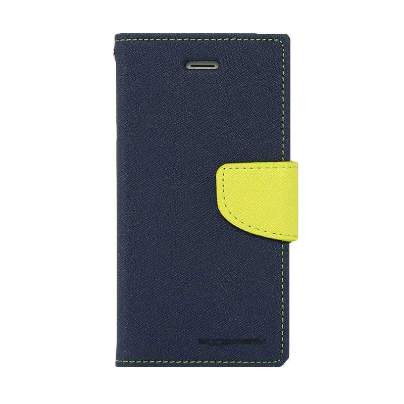 Mercury Goospery Fancy Diary Navy Lime Casing for Galaxy S4 mini