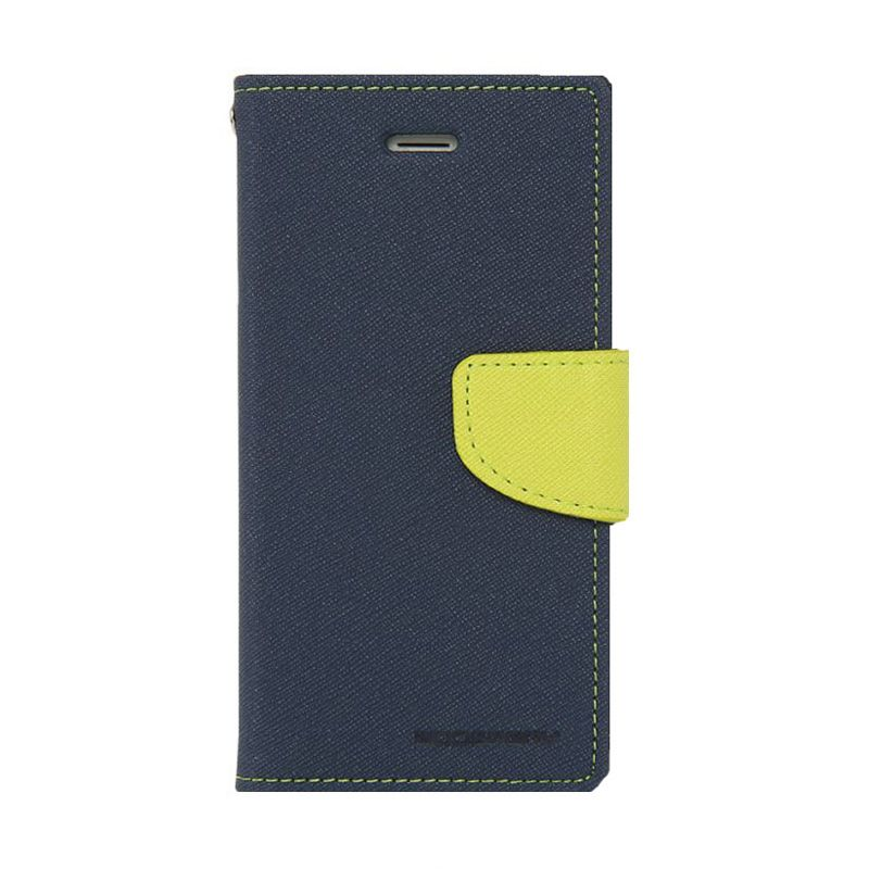 Mercury Goospery Fancy Diary Navy Lime Casing for Iphone 6