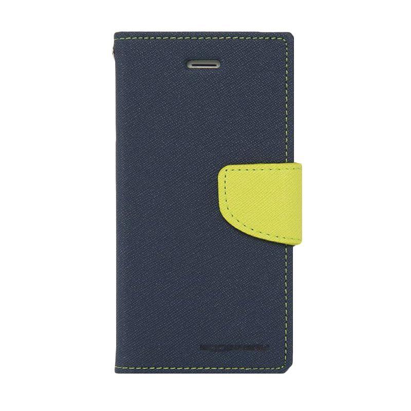 Mercury Goospery Fancy Diary Navy Lime Casing for LG G2 Mini