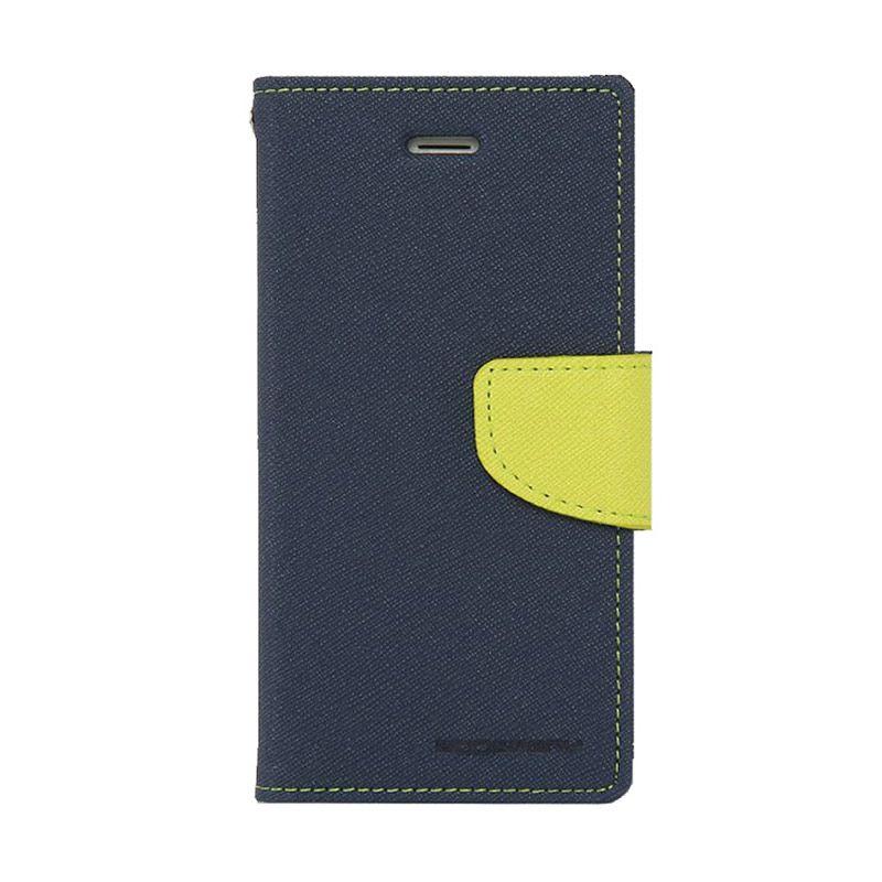 Mercury Goospery Fancy Diary Navy Lime Casing for LG G2