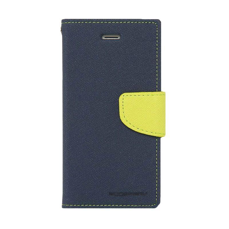 Mercury Goospery Fancy Diary Navy Lime Casing for Samsung Galaxy S6
