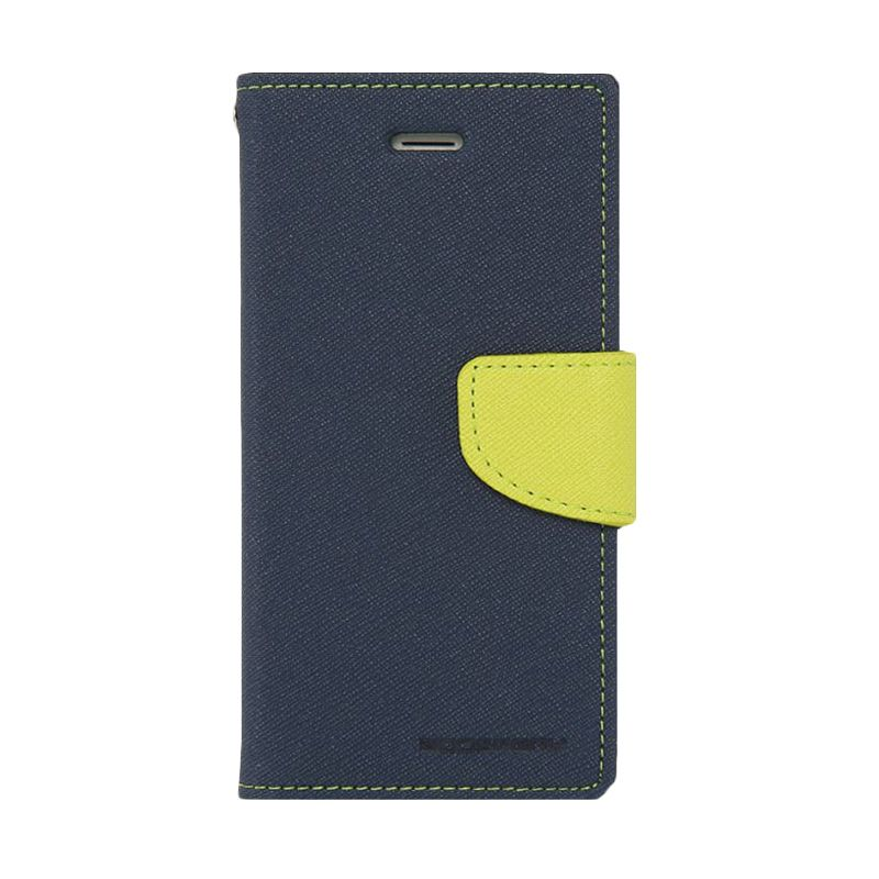 Mercury Goospery Fancy Diary Navy Lime Casing for Sony Xperia T2