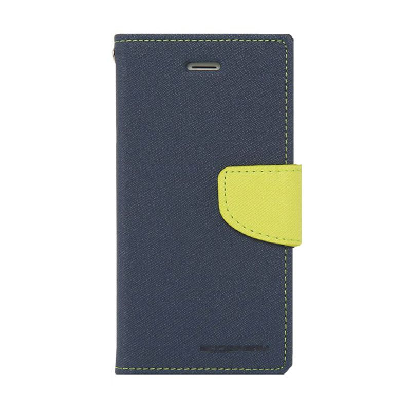 Mercury Goospery Fancy Diary Navy Lime Casing for Xiaomi Mi4