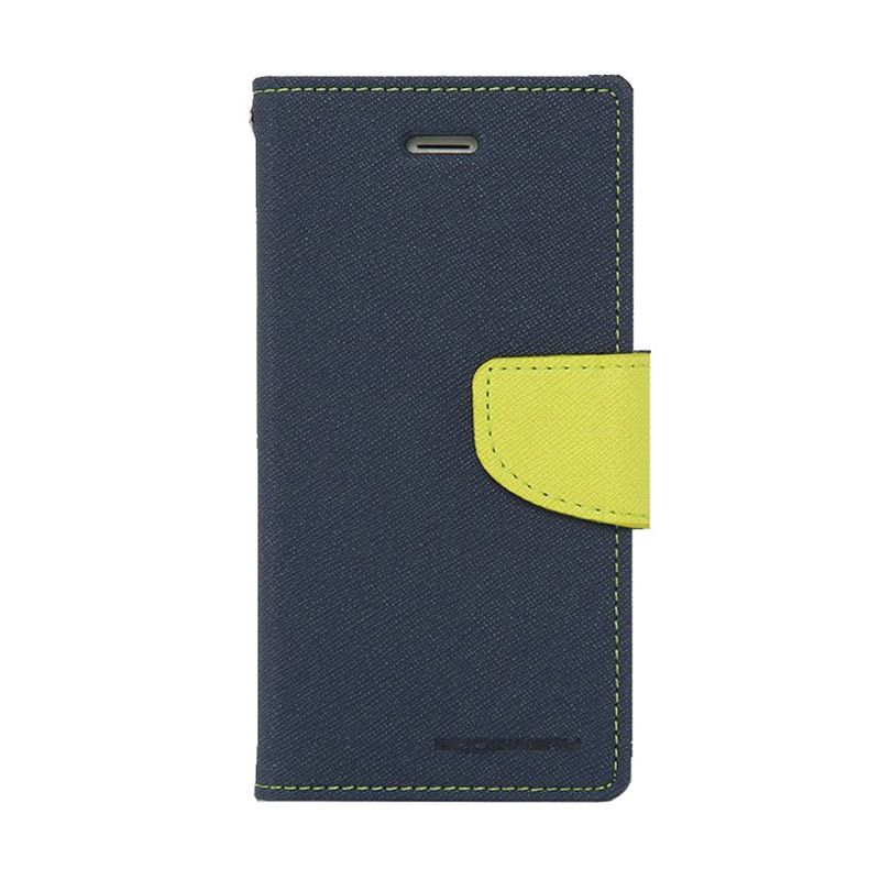 Mercury Goospery Fancy Diary Navy Lime Casing for Xperia Z3 Compact