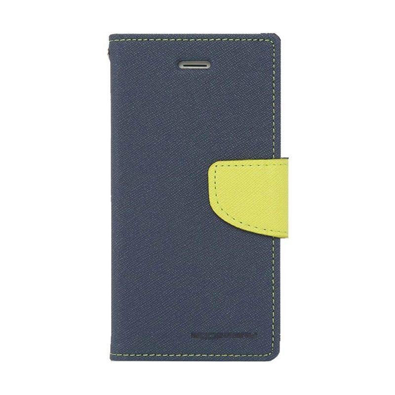 Mercury Goospery Fancy Diary Navy Lime Flip Cover Casing for Asus Zenfone 6