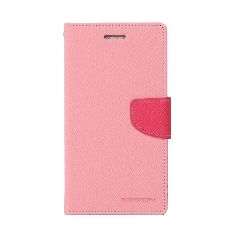 Mercury Goospery Fancy Diary Pink Hot Pink Casing for Galaxy Ace 3