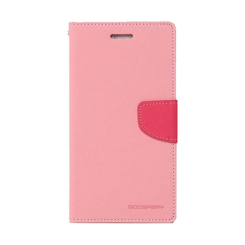 Mercury Goospery Fancy Diary Pink Hot Pink Casing for Oppo R1 R829