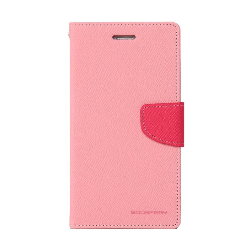 Mercury Goospery Fancy Diary Pink Hot Pink Casing for Xperia C3