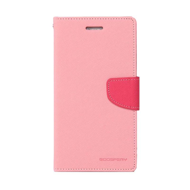 Mercury Goospery Fancy Diary Pink Hot Pink Casing for Zenfone 2 ZE551ML
