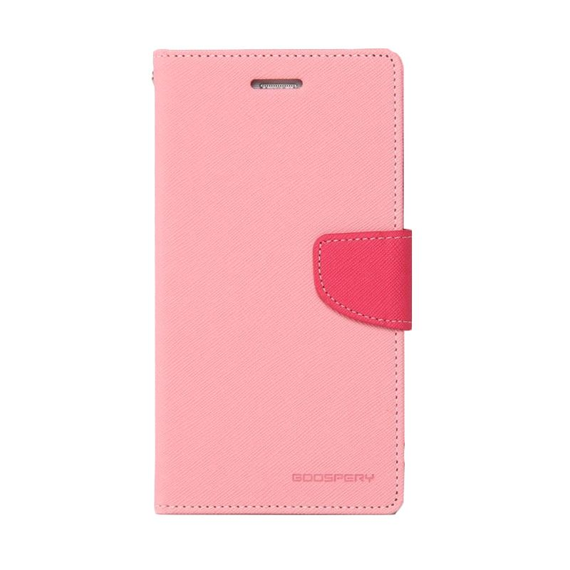 Mercury Goospery Fancy Diary Pink Hot Pink Casing for Zenfone 5
