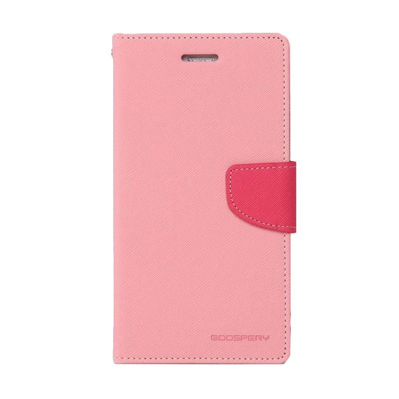 Mercury Goospery Fancy Diary Pink Hot Pink Flip Cover Casing for Oppo Find 7