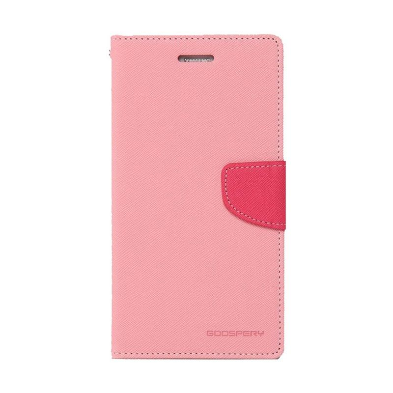 Mercury Goospery Fancy Diary Pink Hot Pink Flip Cover Casing for Xiaomi Redmi 2