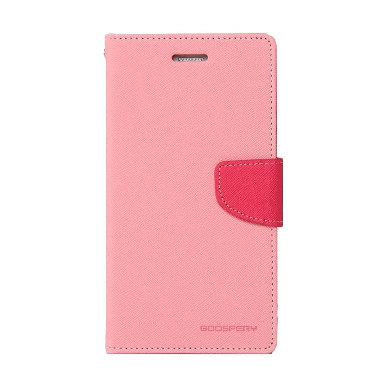 Mercury Goospery Fancy Diary Pink Hot Pink Casing for Galaxy Core 2