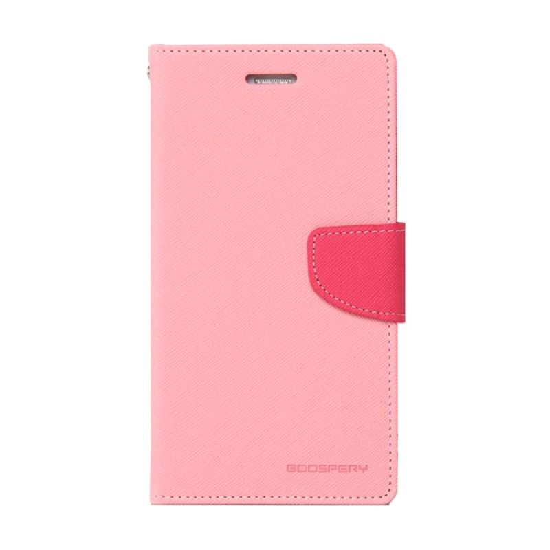 Mercury Goospery Fancy Diary Pink Hotpink Casing for Galaxy Grand 1
