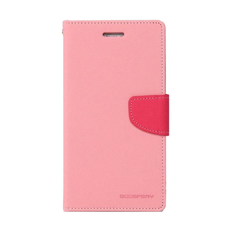 Mercury Goospery Fancy Diary Pink Hot Pink Casing for HTC One Mini