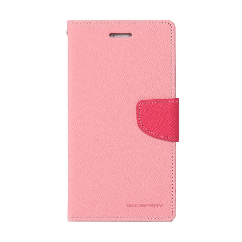 Mercury Goospery Fancy Diary Pink Hot Pink Casing for Oppo Neo K